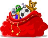 Christmas Vectors - Mega Bundle - Bag of Gifts