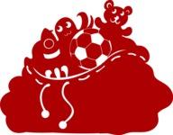 Christmas Vectors - Mega Bundle - Bag of Toys Silhouette