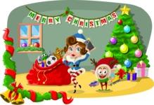Christmas Vectors - Mega Bundle - By the Christmas Tree