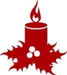Christmas Vectors - Mega Bundle - Christmas Candle Silhouette