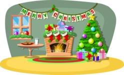 Christmas Vectors - Mega Bundle - Christmas Decorated Room