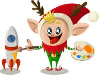 Christmas Vectors - Mega Bundle - Christmas Elf 6