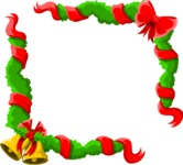 Christmas Vectors - Mega Bundle - Christmas Frame 1