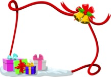 Christmas Vectors - Mega Bundle - Christmas Frame 14