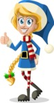 Christmas Vectors - Mega Bundle - Christmas Girl 1