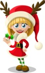 Christmas Vectors - Mega Bundle - Christmas Girl 3