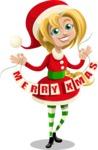 Christmas Vectors - Mega Bundle - Christmas Girl 5