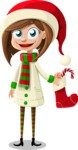 Christmas Vectors - Mega Bundle - Christmas Girl 7