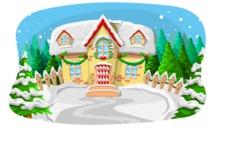 Christmas Vectors - Mega Bundle - Christmas House in Snow
