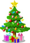 Christmas Vectors - Mega Bundle - Christmas Tree With Gifts