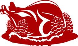 Christmas Vectors - Mega Bundle - Christmas Turkey Silhouette