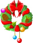 Christmas Vectors - Mega Bundle - Christmas Wreath
