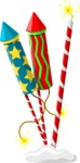 Christmas Vectors - Mega Bundle - Firework Rockets