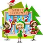 Christmas Vectors - Mega Bundle - Girls Wishing Merry Christmas