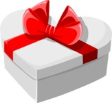 Christmas Vectors - Mega Bundle - Heart-shaped Gift Box