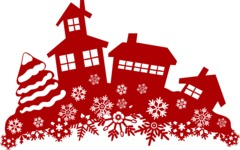 Christmas Vectors - Mega Bundle - Houses During Winter