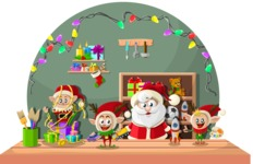Christmas Vectors - Mega Bundle - In Santa's Workshop