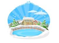 Christmas Vectors - Mega Bundle - Lake and Houses During Winter