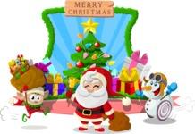 Christmas Vectors - Mega Bundle - Merry Christmas with Santa