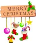 Christmas Vectors - Mega Bundle - Merry Christmas Wooden Sign