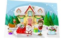 Christmas Vectors - Mega Bundle - Playing on the Snow