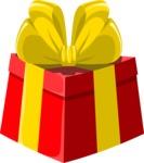 Christmas Vectors - Mega Bundle - Red Gift Box