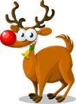 Christmas Vectors - Mega Bundle - Reindeer Rudolph 1