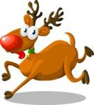 Christmas Vectors - Mega Bundle - Reindeer Rudolph 2
