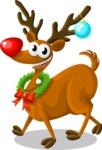 Christmas Vectors - Mega Bundle - Reindeer Rudolph 4