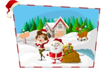 Christmas Vectors - Mega Bundle - Santa at North Pole