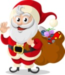 Christmas Vectors - Mega Bundle - Santa Claus 4