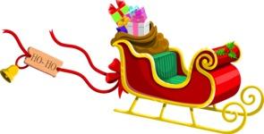 Christmas Vectors - Mega Bundle - Santa's Sleigh
