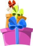 Christmas Vectors - Mega Bundle - Stack of Gifts