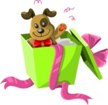 Christmas Vectors - Mega Bundle - Toy in Unwrapped Gift Box