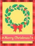 Merry Christmas Card with Wreath