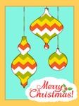 Card with Christmas Ornaments