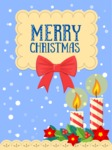 Merry Christmas Card with Candles