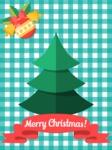 Christmas Card Material Design Tree