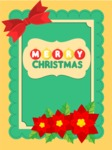 Greeting Card with Christmas Flowers