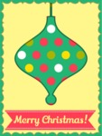 Merry Christmas Card with Ornament