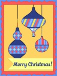 Merry Christmas Card with Toys