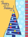 Happy Holidays Card with Tree