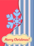 Merry Christmas Card with Snowflake