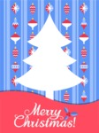 Christmas Card in Blue and Red