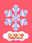Christmas Card Snowflake with Pattern