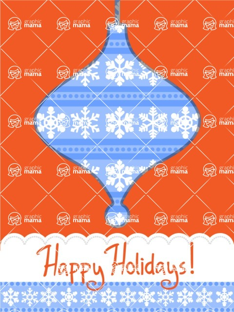 Christmas Card Vector Graphics Maker - Happy Holidays Card with Snowflakes