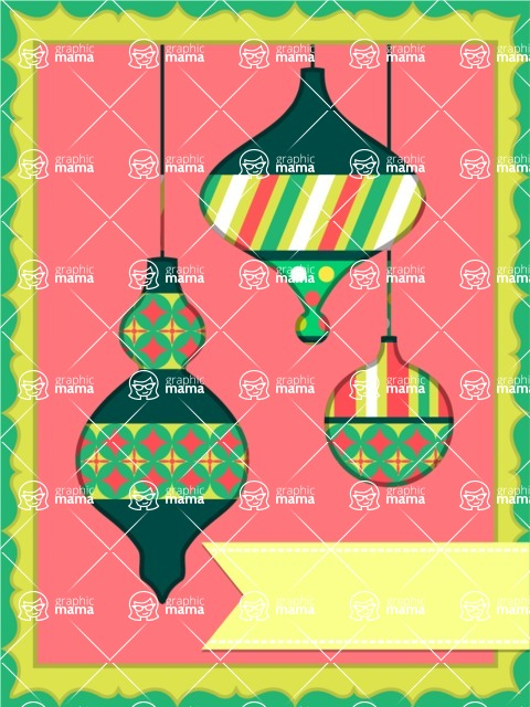 Christmas Card Vector Graphics Maker - Christmas Card with Ornaments