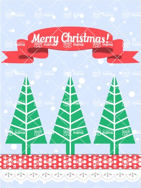 DIY Christmas Cards - Christmas Trees Card