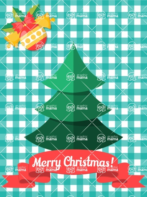 Christmas Card Vector Graphics Maker - Christmas Card Material Design Tree