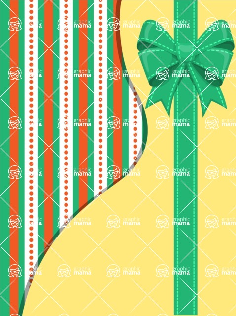 Christmas Card Vector Graphics Maker - Christmas Card with Pattern